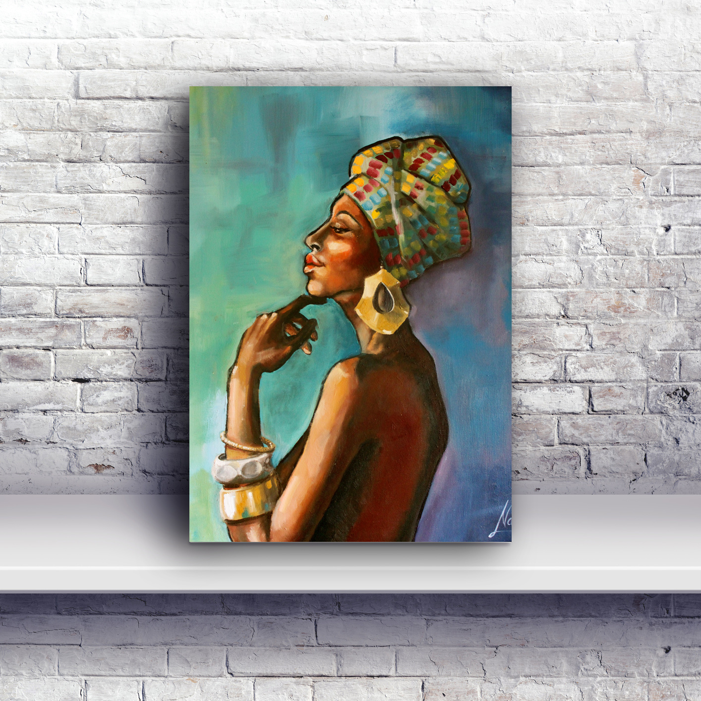 Painting On A Wall African Art