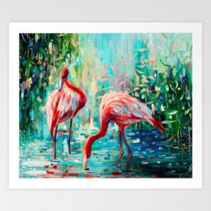 flamingos-painting