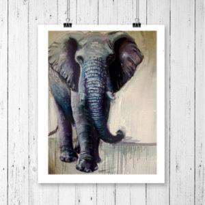 elephant.art.print